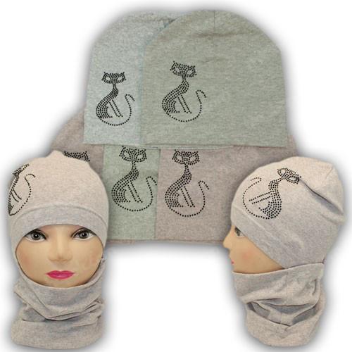 Трикотажные комплекты шапка и хомут