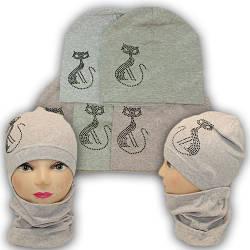 Трикотажные комплекты шапка и хомут, р. 50-52