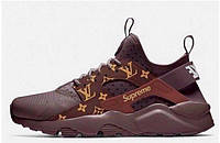"Кроссовки женские Nike Huarache Brown Supreme Louis Vuitton ""Коричневые"" р. 36-40"