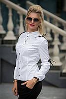 Блузка женскаяиз хлопка с затяжными завязками BS/-1329