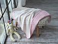 Плед дитячий в'язаний 80x110 BETIRES LOVELY PINK (100% акрил) рожевий, фото 5