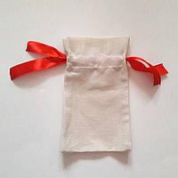 Мешочки из двунитки с красной лентой (14х24), фото 1