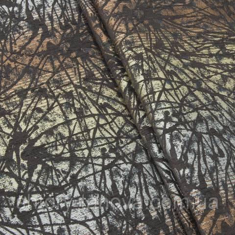 Шенилл абстракция мультиколор (коричневый)