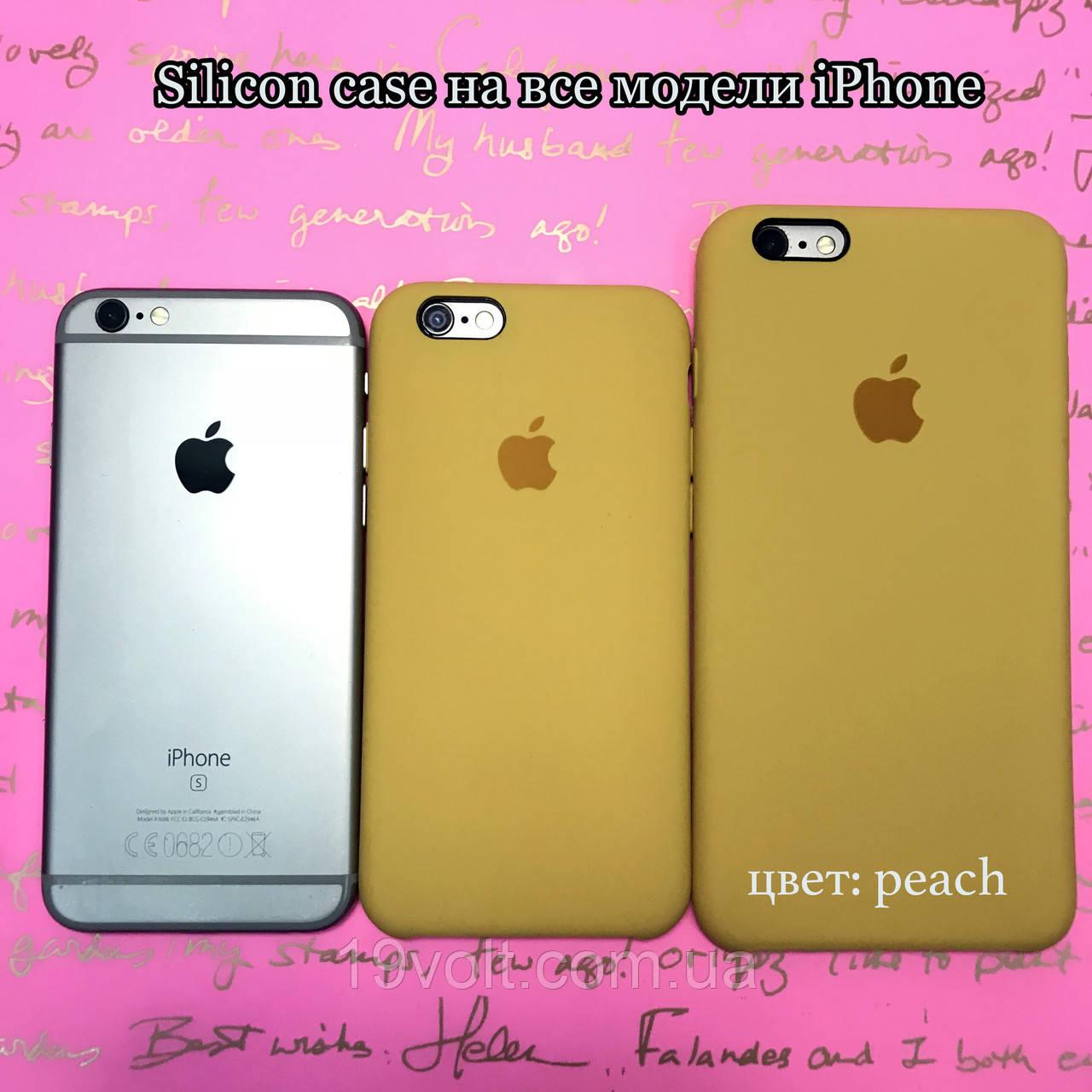 buy popular b31ff 3e1a4 Силиконовый чехол Apple Silicone Case iPhone 6, 6s; 7, 7 plus; 8, 8 plus;  (Peach): продажа, цена в Львове. ...