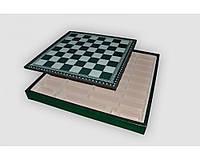 Box verde / Шахматное поле-бокс с местом для укладки шахмат (зеленая доска)