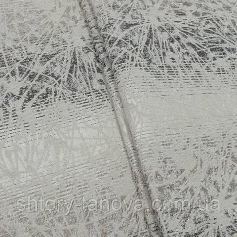 Шенилл абстракция бежево-коричневый