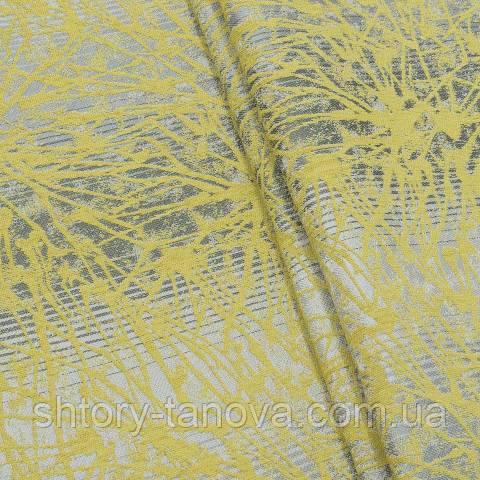 Шенилл абстракция жёлтый