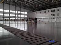 Промышленный бетонный пол с топингом в Днепропетровске