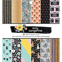 Набір паперу - Amy Tan Shine On - American Crafts - 15x15