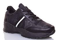 Черные кроссовки в стиле хаки на толстой дутой высокой подошве под Balenciaga 36 размер