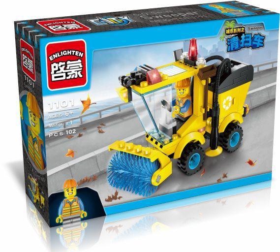 Конструктор BRICK 1101 сміттєприбиральна машина, 106 елементів, в коробці, 22-14-4,5 см.