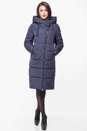 Женская курточка зимняя Kattaleya KTL-160 с ассиметричной молнией сапфировая (#612), фото 2