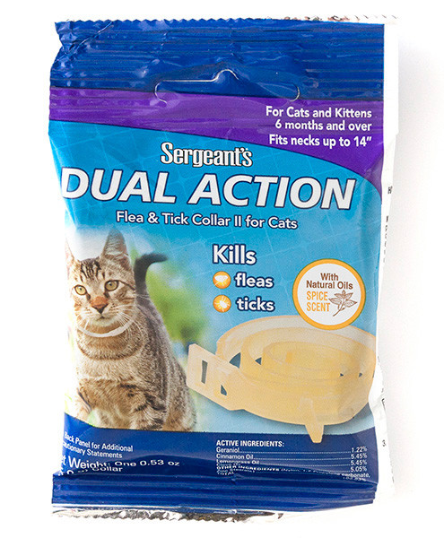 Ошейник натуральный от блох и клещей для кошек Sentry Dual Action