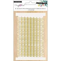 Стрічка - Gold Stars - Willow Lane - Magie Holmes Ціна за 1 ярд (90см.)!!!