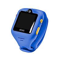 Детские смарт-часы Doki Watch Sonic S Blue с GPS-трекером и видеозвонками (DOKIWATCH-2101-SB)