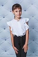 Блуза для девочки с воланами белая, фото 1