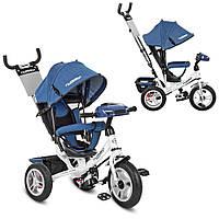 Велосипед M 3115HAJ-7 (1шт)три кол.резина (12/10),колясочн.,своб.ход кол,звук,свет,торм.джинс,белый