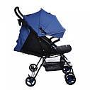 Детская коляска BABYCARE Mono BC-1417 Blue для деток 6 до 36 месяцев, фото 2