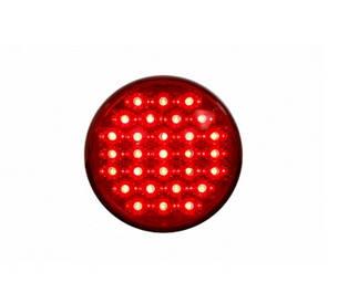 Круглый диодный задний фонарь красный для грузовиков(6979), фото 2