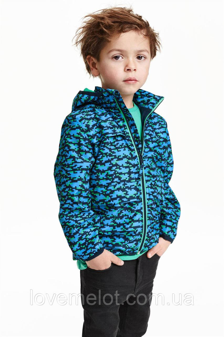 """Детская ветровка на подкладке H&M """"Пиксели"""" для мальчика, размер 110 см"""