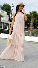Женское платье шифоновое в пол размеры: 42-48,48-52, фото 3