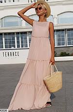 Женское платье шифоновое в пол размеры: 42-48,48-52, фото 2