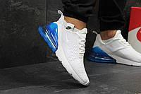 Кроссовки мужские Nike Air Max 270 молодежные удобные стильные под джинсы в белом цвете, ТОП-реплика