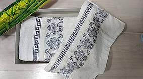 """Набор полотенец Баня+Лицо """"Узор Греция"""" цвет Белый"""