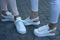 Кроссовки кожаные женские без пятки