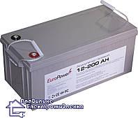 Гелева акумуляторна батарея EuroPower GL12-200 Ah, фото 1