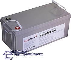Гелева акумуляторна батарея EuroPower GL12-200 Ah