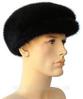 Мужская  кепка из  натуральной норки цвет черный