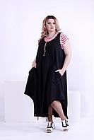 Женское платье свободного покроя (футболка отдельно) 0879 / размер 42-74 / большие размеры
