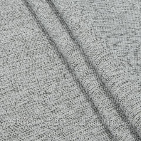 Шенилл для штор бело-серый