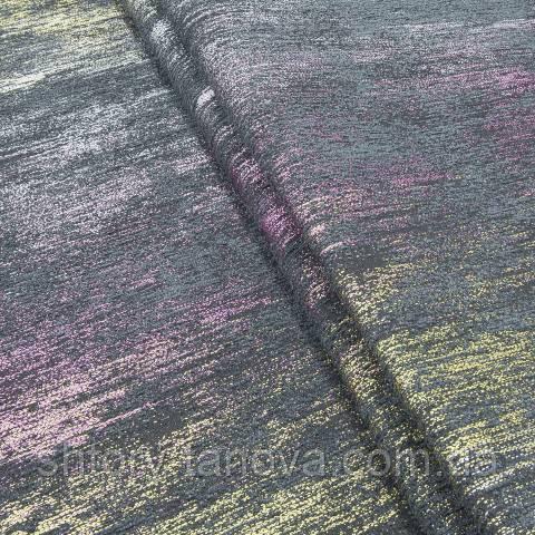Шенилл для штор жёлто-розовый
