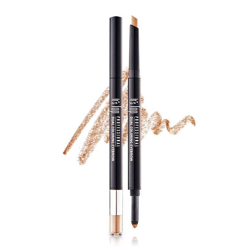It's Skin Олівець для брів Top Professional Dual Coloring Eyebrow 0.3 g + 0.5 g 03, Світло Коричневий