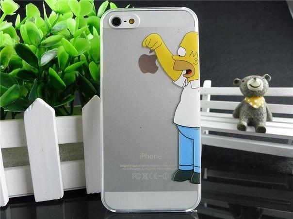 Стильний чохол iphone 5 Гомер тримає яблучко