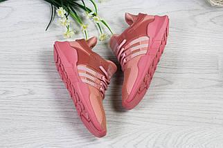 Розовые Женские Кроссовки Сетка Кеды, фото 3