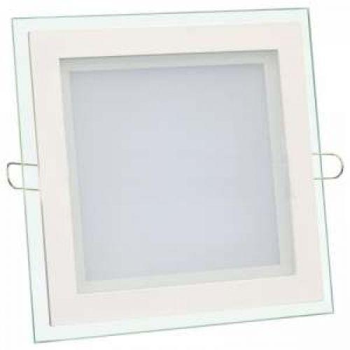 Встраиваемый светодиодный светильник BIOM 6Вт квадрат (стекло)