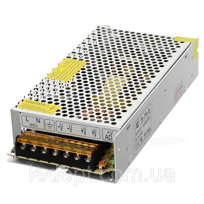 Блок питания 75W 5V для LED ленты 15А