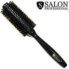 Salon Prof. Расческа брашинг 25764 черное дерево щетина и силикон d=25/50 мм