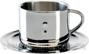 Кофейная чашка с блюдцем Bergoff Straight 0.15 л 1107073