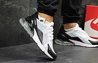 Кроссовки мужские Nike Air Max 270 летние  популярные качественные для повседневной носки (белые), ТОП-реплик