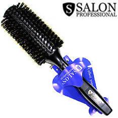 Salon Prof. Расческа брашинг 27321 черное дерево щетина и силикон d=30/60 мм