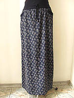Юбка длинная в пол из тонкой ткани софт, с карманами, широкий пояс на резинке. р.50,52,54 код 2046М