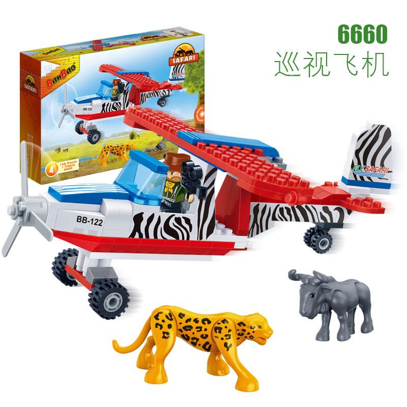 "Конструктор BanBao 6660 ""Сафари. Аэроплан"", 146 елементів, в коробці"