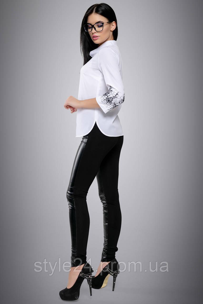 ЖІноча біла блуза з вишивкою на рукавах.Р-ри 46-52  продажа f393e4ead495c