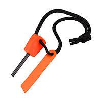 Кресало / огниво для разведения огня без спичек (цвет оранжевый), фото 1