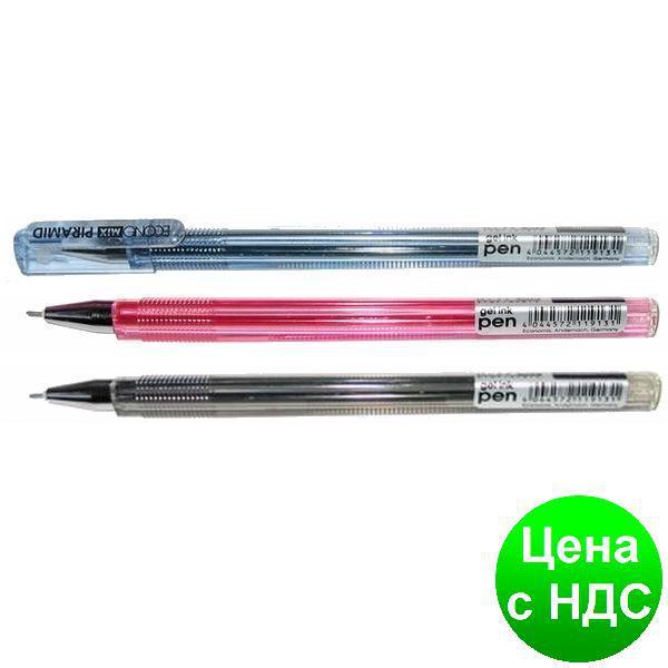 Ручка гелевая ECONOMIX PIRAMID 0,5 мм, черная E11913-01