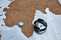 Скретч карта мира Scratch Map для путешествий (на русском языке) без тубуса